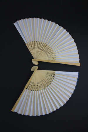asian fan isolated with black background