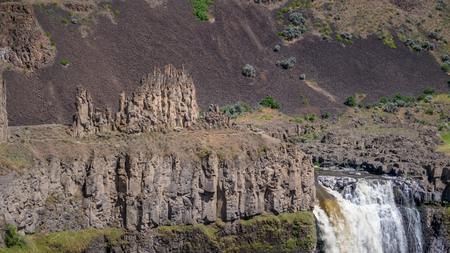 Close-up of the Palouse Falls 写真素材
