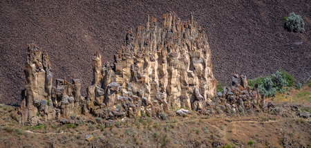 Close-up of a rock formation near Palouse Falls 写真素材
