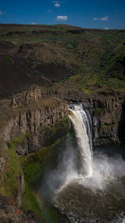 The Palouse Falls, Washington State official waterfalls 写真素材 - 103062446