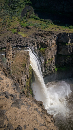 The Palouse Falls, viewed from the North