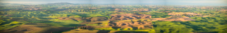 Panorama: The Palouse from Steptoe Butte at sunrise