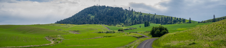Panorama: Kamiak Butte in The Palouse 写真素材