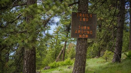 Trails end at the Kamiak Buttes summit