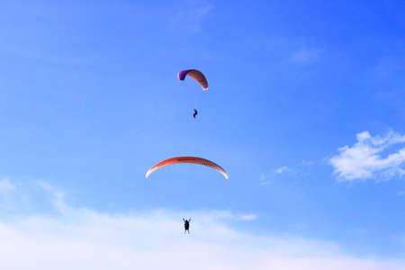skydive:  skydive  paragliding Stock Photo
