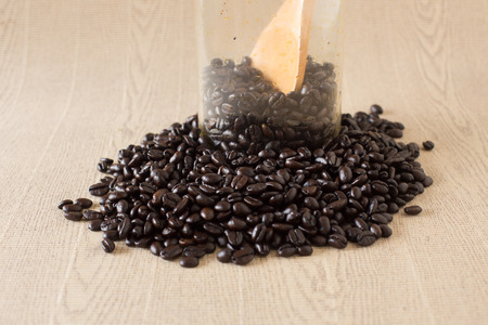 decaffeinated: Coffee beans  Stock Photo