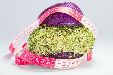 Veggie burgers ,Fruits  Health photo