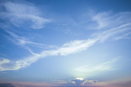 Natural colors Evening sky Stockfoto