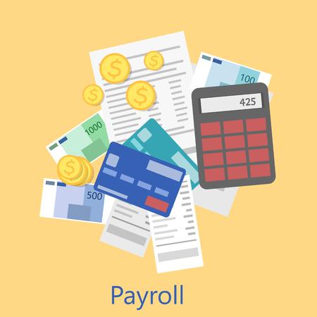 payroll icon 向量圖像