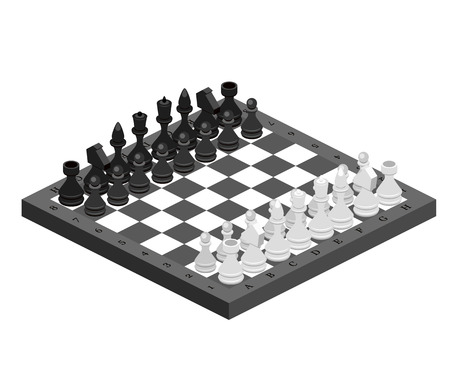 pièces d'échecs isométriques avec carte