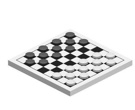 체커 게임 일러스트