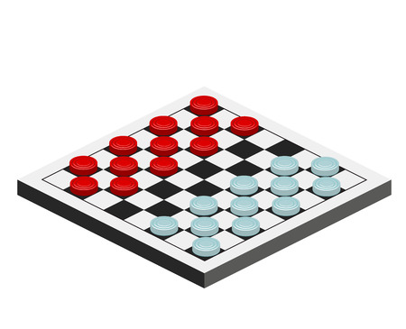checkers game Vectores