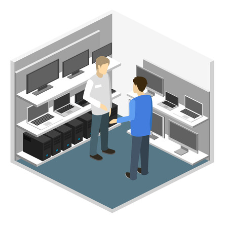 Isometric interior of Computer store