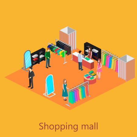 shoping: Isometric interior of shoping mall Illustration