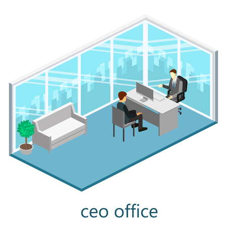 directors: isometric interior of directors office