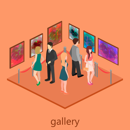 picture gallery: Isometric interior of picture gallery