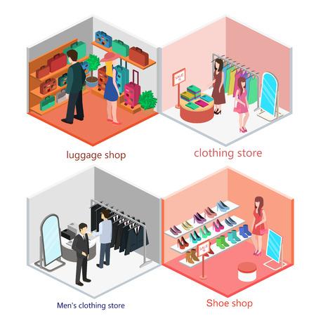 Isometric interior of shop