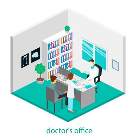 consulta m�dica: Consulta m�dica. entre isom�trica de la oficina del doctor. Vectores