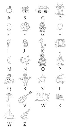 learning english: cards for learning English alphabet