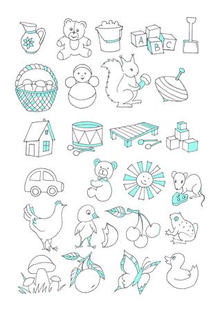 Pictures for educational notebooks Ilustração