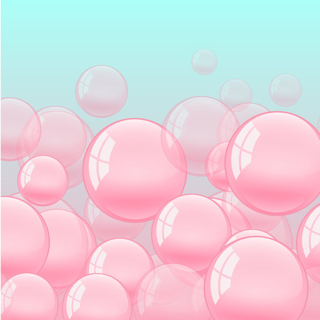 background with bubble gum. Flat bright illustration