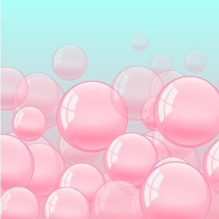 gum: background with bubble gum. Flat bright illustration