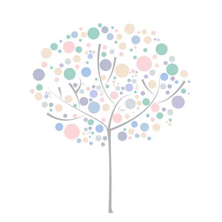 natura: abstract tree with circles Illustration