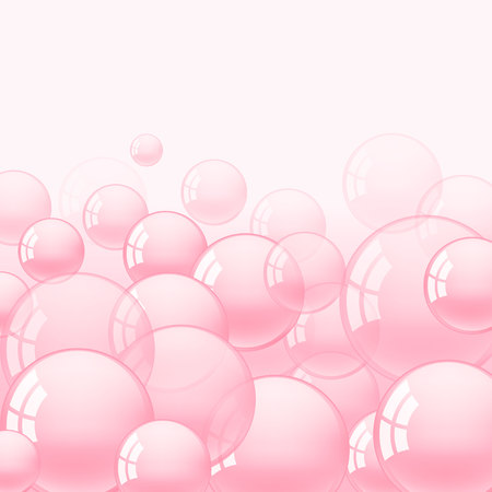 background with pink bubble gum illustration