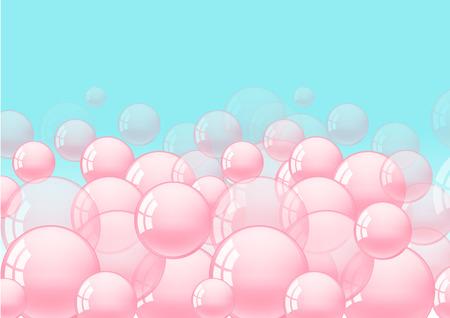 bubble gum: background with pink bubble gum illustration