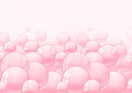 background with pink bubble gum vector illustration Ilustração