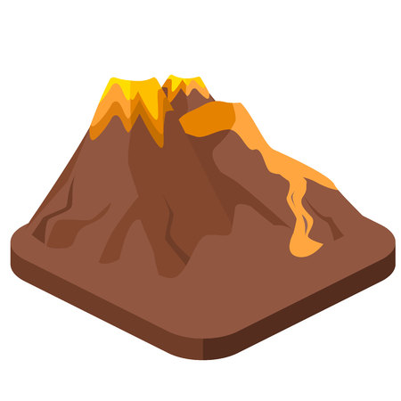 Cross section through a volcano vector infographics in flat isometric flat 3d isolated concept vector volcano magma nature blowing up with lava flowing down vector ccuart Image collections