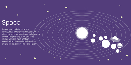 Isometric flat 3D concept vector solar system showing planets around sun Vectores