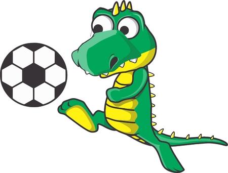 soccer: crocodile soccer