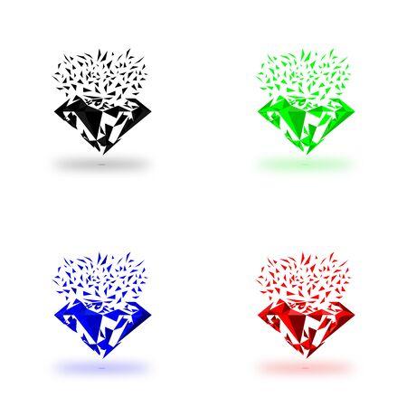 emerald gemstone: Diamond shape