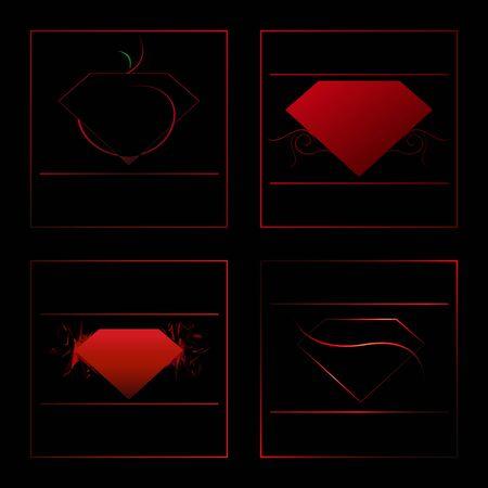 red diamond icon set, apple gems blood color icon