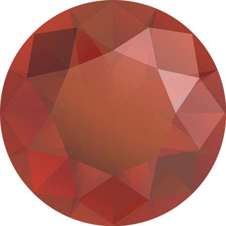 sapphire gemstone, ruby gems, diamond cut front table face of green gems Vettoriali