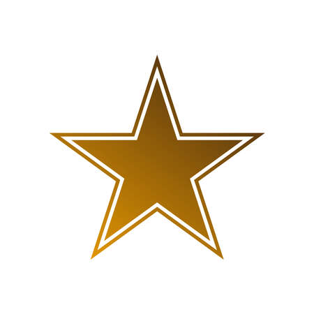 Star flat icon gold color on white background