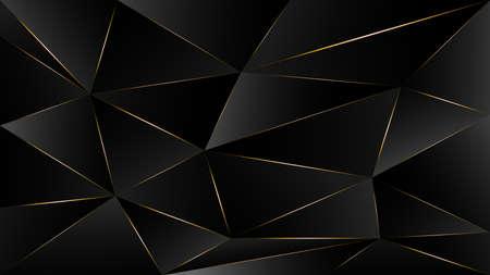 black triangle, dark wallpaper background with gold border line path