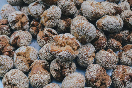 Onde onde, Indonesian Traditional snack. made from wheat flour mixing sticky rice flour and sesame seeds as toping.