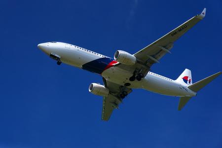 KUALA LUMPUR INTERNATIONAL AIRPORT - July 19 : Boeing 737-8H6 (9M-MXU) Malaysia Airlines ready to land at Kuala Lumpur International Airport, Malaysia on July 19, 2014.