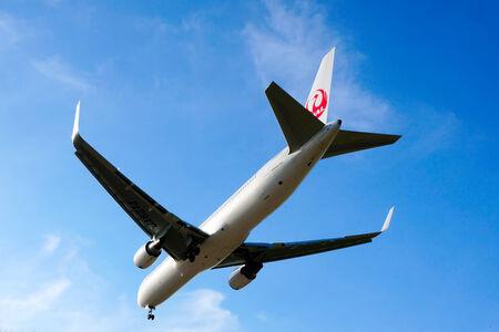 KUALA LUMPUR INTERNATIONAL AIRPORT - July 19 : Boeing 767-346 (JA621J) Japan Airlines flight ready to land at Kuala Lumpur International Airport, Malaysia on July 19, 2014.