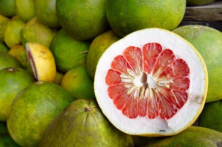 pomelo: Pomelo fruits Stock Photo