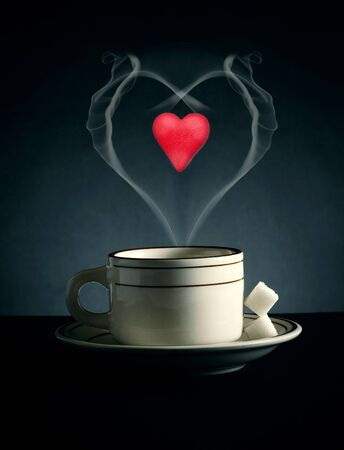 valentine day cup of coffee: Symbol valentines. A cup of coffee for lovers.