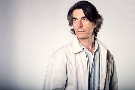 Fashion portrait of the beautiful man photo
