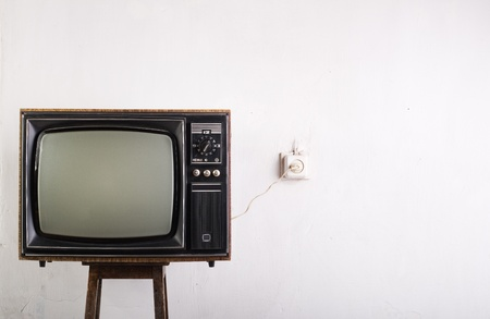 Old vintage TV over a white background Stock Photo - 10475225