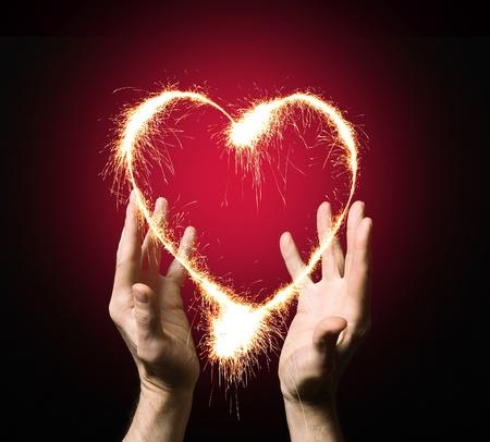 vurige hart van een persoon