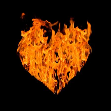 fire heart photo