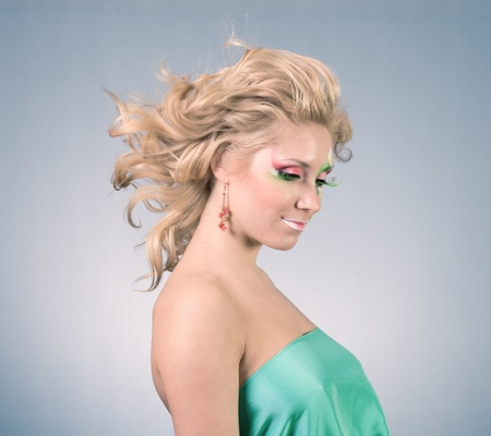 beautiful woman with magnificent hair photo