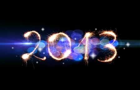 2013 made of sparkles Stock Photo - 16659218