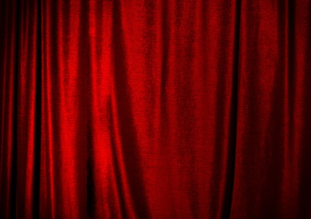 Red curtain. photo